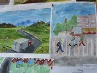 Дети Тувы рисуют дороги
