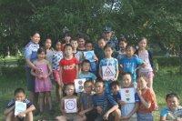 В летних лагерях Тувы проходят уроки дорожной безопасности