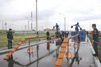 В Туве состоялись соревнования среди добровольных пожарных команд республики