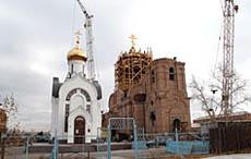 Строящийся православный храм на территории Кызыла. Фото Виталия Шайфулина