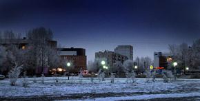 Ночной Кызыл. Тува. Фото Виталия Шайфулина