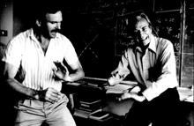 Ральф Лейтон и Ричард Фейнман, основатели общества Друзья Тувы в Америке. Фото Калифорнийского технологического университета.