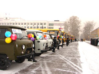 Автобусы для школ Тувы. Фото пресс-службы правительства