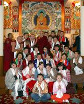 Далай-Лама и тувинские паломники. Фото сайта центра Тибетской культуры в Москве