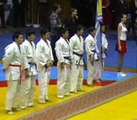 Сборная кызылских дзюдоистов на соревнованиях в Красноярске. Фото предоставлено мэрией Кызыла