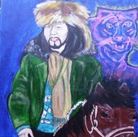Портрет Альберта Кувезина, Тува. Работа Арьопы, Германия. Предоставлена автором