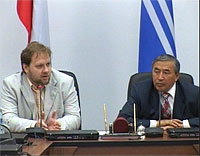 Олег Матвейчев, Шериг-оол Ооржак. Фото сайта правительства Тувы