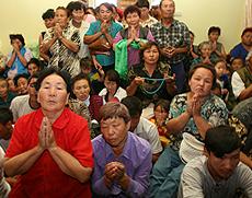 Молебен о визите Далай-ламы в Россию. Тува. Август 2006 года. Фото предоставлено центром тибетской культуры и информации