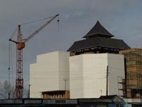 Новое здание тувинского краеведческого музея на этапе строителства. Фото с сайта мэрии Кызыла