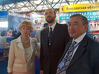 Людмила Нарусова, Сергей Пугачев, Шериг-оол Ооржак. Фото пресс-службы правительства