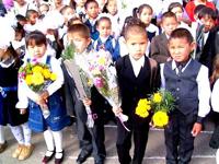 Первоклассники. Фото с сайта кызылской администрации