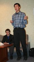 Сылдыс Калиндуу, участник Круглого стола Власть и СМИ. Фото Оюмыы Хомушку