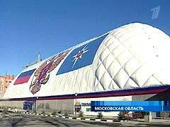 Фото подобного спорткомплекса, открытого в ноябре 2005 года на базе МЧС в Новогорске