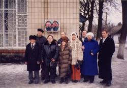 Тувинская делегация в селе Деражно. 2004. Фото Долааны Салчак