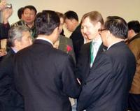 После подписания инвестиционного соглашения. Представители Правительства Тувы и корпорации Лунсин