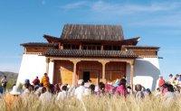 Монахи монастыря Дрепунг Гоманг провели огненную пуджу у храма Устуу-Хурээ в Туве