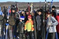 В Туве около одной тысячи человек приняли участие в гонках «Лыжня России-2012»