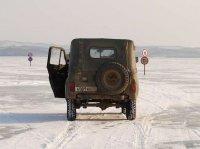 Три из пяти ледовых переправ закрыты в Туве