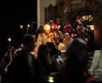 В Туве пасхальная служба впервые прошла в новом кафедральном соборе
