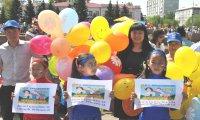 Тувинские дети  получили в подарок от Ларисы Шойгу и Алексея Пиманова 1500 эскимо