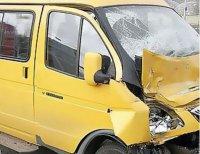 В Кызыле при столкновении маршруток пострадали 5 человек