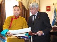Верховного ламу Калмыкии приняли в парламенте Тувы
