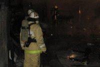 Станция техобслуживания вместе с автомобилями сгорела в Кызыле