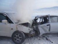 В Туве в ДТП погибли три сотрудника полиции и подозреваемый