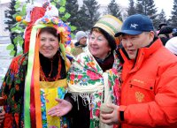 В Туве народными гуляниями проводили зиму