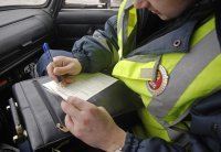 В Туве водителя за лжесвидетельство оштрафовали