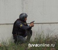 Полицейские Улуг-Хема провели учение «Вулкан-Шагонар»
