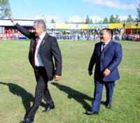 Сергей Шойгу прилетел на Наадым в родную Туву