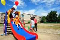 Первый детский и спортивный городок открылся в правобережном микрорайоне Кызыла
