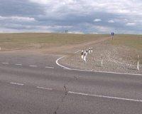 В Туве частные компании приступили к отсыпке полотна объездной дороги вокруг столицы