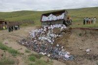 Полицейские Кызыла уничтожили поддельный алкоголь на 14 млн. рублей