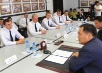В пограничное управление Тувы прибыли на службу выпускники военных вузов