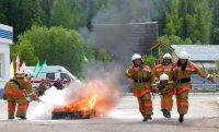 Пожарные Тувы состязались в профессиональном мастерстве