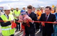 В Туве с участием министра транспорта России открыта 4-полосная магистраль