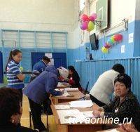 На 18 часов на участках Кызыла явка избирателей составляет от 20 до 41%