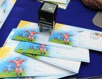 """Тувинский хуреш на почтовых конвертах со спецштемпелем """"Наадым"""""""