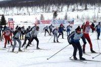 """Спортсмены Кызыла и 8 кожуунов, включая отдаленный Тере-Хольский, участвовали в лыжных гонках на станции """"Тайга"""""""