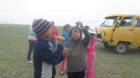 Эрзинские единороссы провели на озере Бай-Хол экологическую акцию