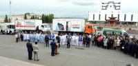 Глава Тувы направил автопоезд «Маршрут здоровья» в районы республики