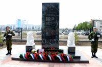 В столице Тувы открыли стелу памяти погибших при тушении лесных пожаров