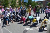 Во дворах Кызыла устанавливаются яркие детские площадки