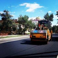 В Туве развернуто масштабное дорожное строительство