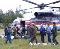 В Тоджинский кожуун Тувы, где наиболее сложная ситуация с лесными пожарами, вылетела оперативная группа МЧС России