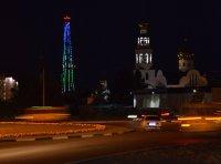 С запуском 2-го цифрового мультиплекса засияла световыми огнями телевизионная башня в Кызыле