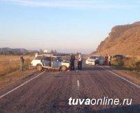 В Туве в результате столкновения двух автомашин один человек погиб, четверых уберег ремень безопасности