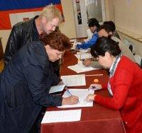 На 15 часов в Туве в выборах депутатов республиканского парламента приняло участие 45% избирателей